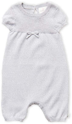 Cuddl Duds Newborn Girls) Grey Bow Coveralls