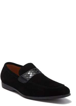 Stacy Adams Crispin Moc Toe Suede Slip-On Loafer