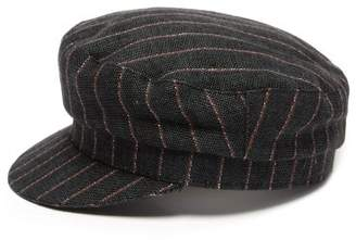 Isabel Marant Evie Striped Linen Cap - Womens - Black