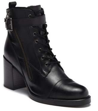 Catherine Malandrino Switch Leather Heeled Buckle Boot
