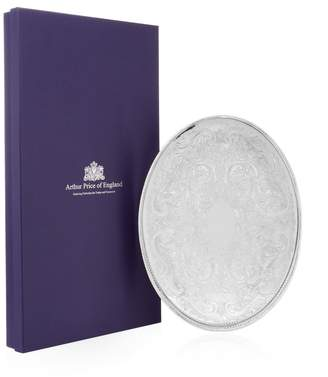 """Arthur Price Of England 15.25"""" Oval Mounted Gallery Tray"""