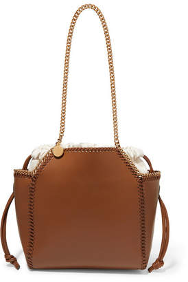 Stella McCartney The Falabella Reversible Faux Leather Tote - Tan