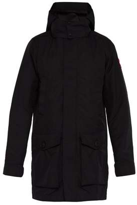 Canada Goose Crew Hooded Trench Coat - Mens - Black