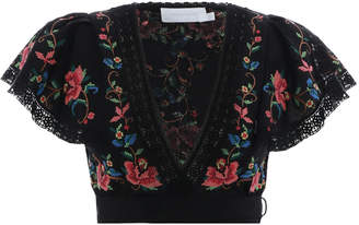 Zimmermann Laelia Cross Stitch Top