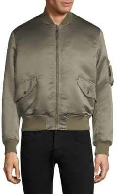 The Kooples Satin Bomber Jacket