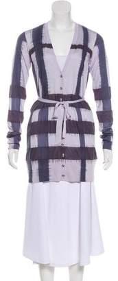 Burberry Long Sleeve Silk Cardigan