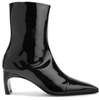 Rosetta Getty Patent-leather Ankle Boots - Black