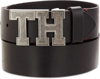 Tommy Hilfiger Men's Logo Leather Belt