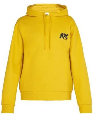 A.p.c. - Keith Cotton Hooded Sweatshirt - Mens - Yellow