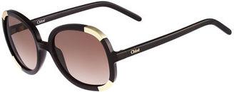 Chloe Girls' Myrte Round Capped Sunglasses $166 thestylecure.com