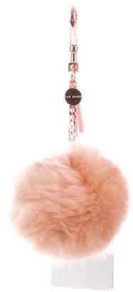 Ted Baker Faux Fur Pom Pom Bag Charm w/ Tags