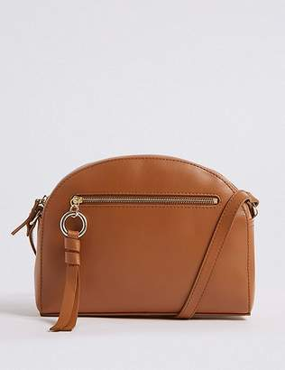 Marks and Spencer Leather Crescent Cross Body Bag
