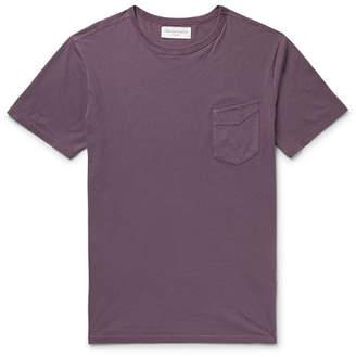 Officine Generale Slim-Fit Garment-Dyed Cotton-Jersey T-Shirt