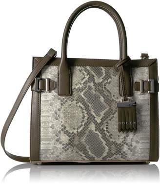 Nine West Women's Clean Living Small Satchel Style Handbag, Natural Multi/Sand Stone/Deep Stone
