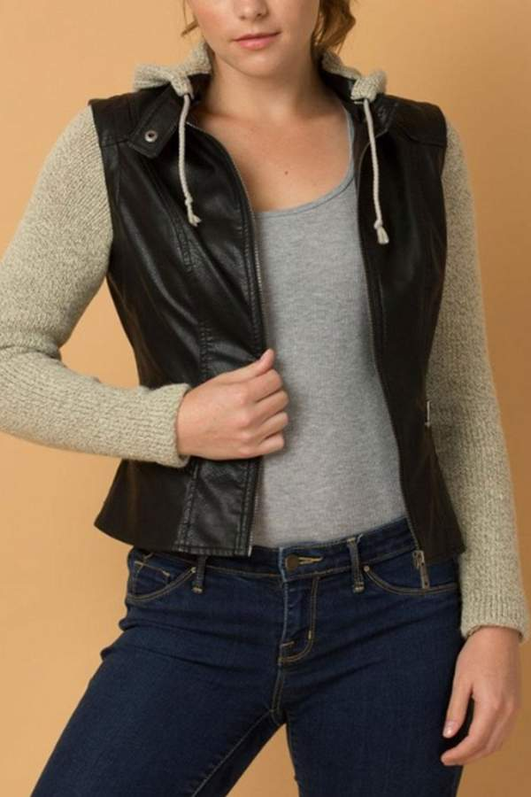 Coalition LA Convertible Vegan-Leather Jacket