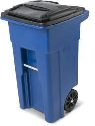 Toter 32 Gallon Trash Can Blue with Wheels and Lid