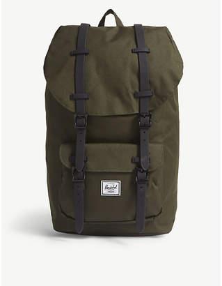 Herschel Green Little America Canvas Backpack