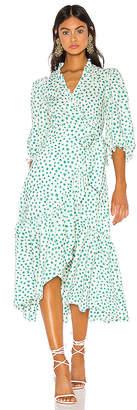 Rebecca Taylor Long Sleeve Emerald Daisy Dress