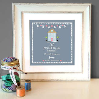 The Little Paper Company Personalised 'Home Sweet Home' Print