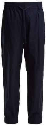 Craig Green - Elasticated Waist Cotton Track Pants - Womens - Navy