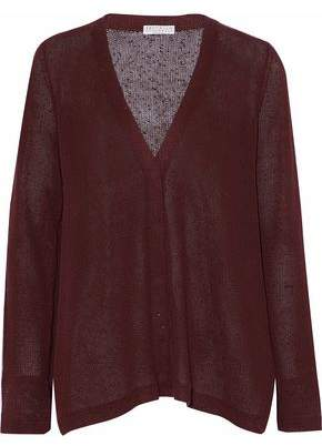 Brunello Cucinelli Sequined Linen And Silk-Blend Top