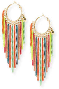 Rosantica Millefili Neon Fringe Hoop Earrings