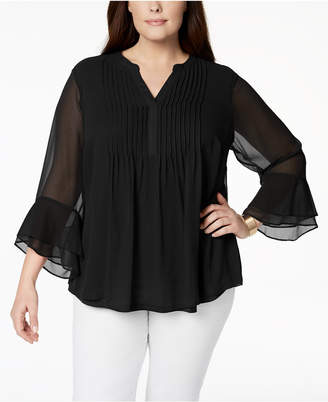 360e56827dbe7 at Macy s · Charter Club Plus Size Pintucked Tunic