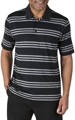 Haggar Heather Stripe Three Button Polo