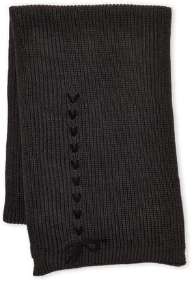 Vince Camuto Lace-Up Knit Scarf