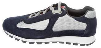 Prada Sport Suede-Trimmed Low-Top Sneakers