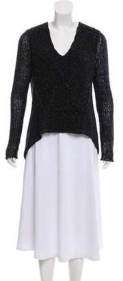 Helmut Lang Wool V-Neck Sweater