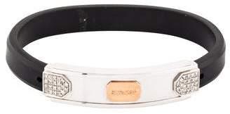 18K Diamond & Rubber Bracelet