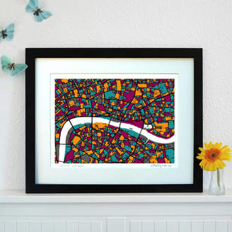 Firewater Gallery Central London Map Art Print