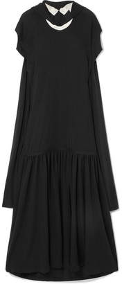 J.W.Anderson Open-back Wool-jersey Maxi Dress - Black