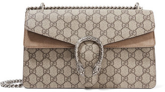 Gucci - Dionysus Small Coated-canvas And Suede Shoulder Bag - Beige $2,150 thestylecure.com