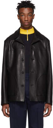 Acne Studios Black Leather Lance Jacket