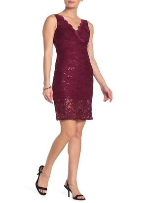 Jump Sequined Floral Lace Dress