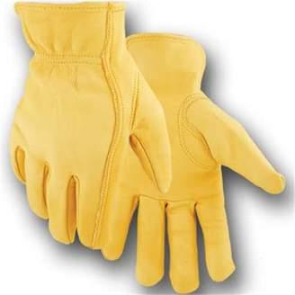 Lucas Jackson Mens Deerskin Economy Work Glove, Yellow - Extra Large