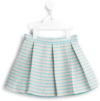 Hucklebones London beach stripe box pleat skirt