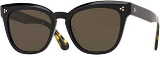 Oliver Peoples Marianela Rounded Plastic Sunglasses
