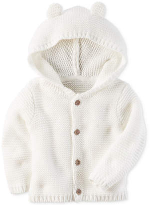 Carter's Hooded Ears Cotton Cardigan, Baby Boys & Girls