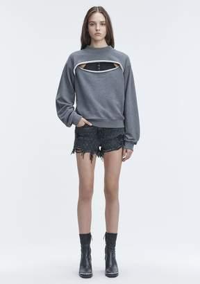 Alexander Wang SLIT-FRONT SWEATSHIRT