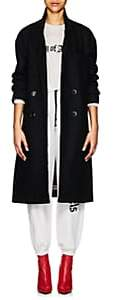 "ADAPTATION Women's ""City of Angels"" Embroidered Wool Overcoat - Black"