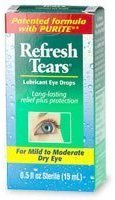 Refresh Tears Sterile Lubricant Eye Drops, 0.33 lb $10.75 thestylecure.com