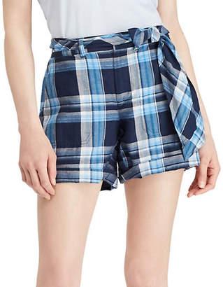 Lauren Ralph Lauren Petite Plaid Mid-Rise Shorts
