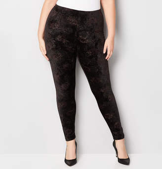 Avenue Velvet Color Floral Legging