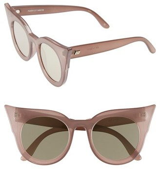 Women's Le Specs 'Flashy' 51Mm Sunglasses - Taupe $69 thestylecure.com
