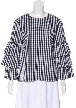 Lafayette 148 Gingham Long Sleeve Top w/ Tags