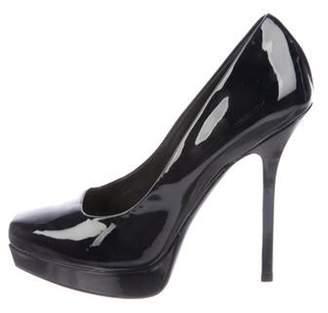 Gucci Patent Leather Square-Toe Pumps Black Patent Leather Square-Toe Pumps