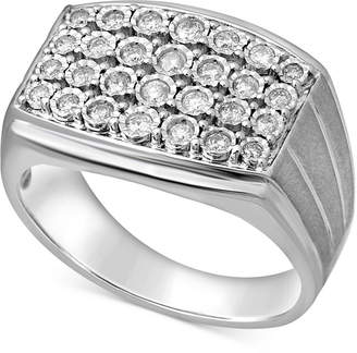 Macy's Men's Diamond Cluster Ring (1/2 ct. t.w.) in Sterling Silver
